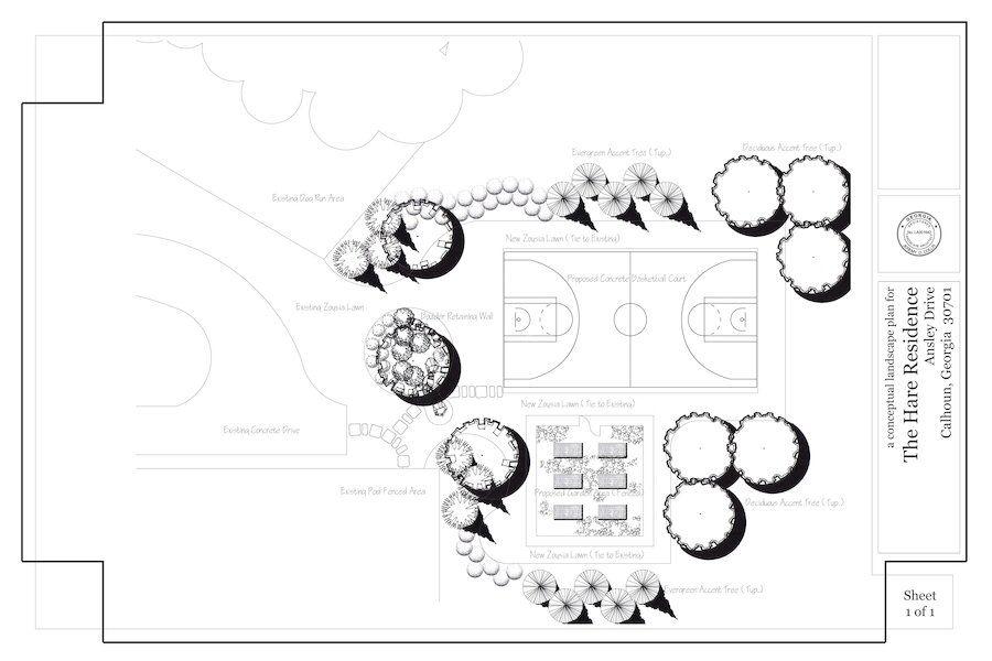 Georgia sport court and garden design OuterElements
