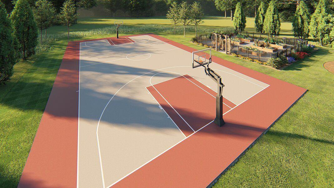 Calhoun Georgia basketball court design OuterElements