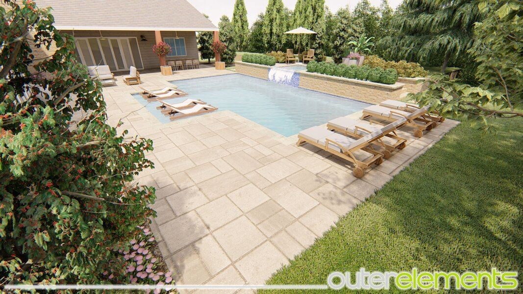 Calhoun Georgia pool and outdoor dining landscape OuterElements