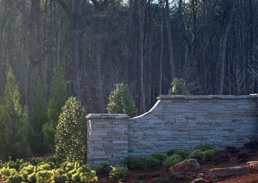Georgia stone wall landscape design OuterElements